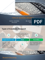 Types of Academic Research