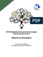 Reporte de Resultados Eliminatoria OIL 2019