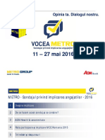Sondaj de opinie privind implicarea angajatilor - Metro voice