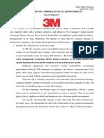 Analysis Program CSR of 3M Company