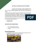 MAQUINARIAS PARA LA CONSTRUCCION DE LAS VIAS FERREAS Y CATENARIAS