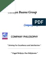 Company Profile cahaya buana group