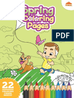 Spring Coloring Pages PDF