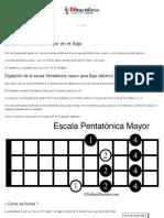 ▷ Escala Pentatónica Mayor para BAJO ELÉCTRICO【 PDF】