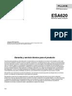 Manual Equipo Se Seguridad Electrica Fluke Esa620