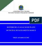 Roteiro de Avaliação de Plano Municipal de Saneamento Básico