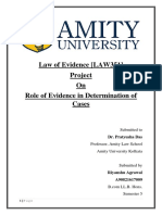 Law of Evidence Project