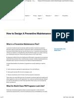 How to Design a Preventive Maintenance Program - EMaint e.g-job 62