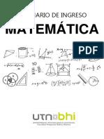 cuaderno de ingreso matematica