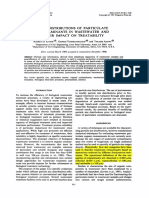 (1991) Size Distributions of Particulate Contaminants in Wastewater and Their Impact on Treatability.