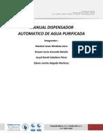 Manual Dispensadora De Agua Automática Instrumentación