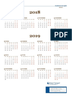 Calendario 2018 - 2019