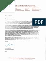 East Lyme Public School EEE Letter to Parents