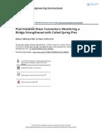 Post-Installed Shear Connectors Monitoring a Bridge