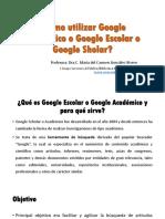 Cómo Utilizar Google Académico o Google Escolar