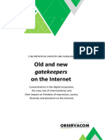 Old and New Gatekeepers Concentration and Pluralism on Internet