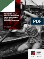 Deserción en la secundaria rural amazónica