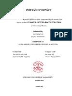 Internship Report Coir Corporation