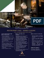RMM-0053 - Restaurant Chef, Nikkei Cuisine