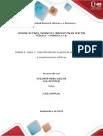 Especificidad de La Gerencia Pública, Política y Organizaciones Públicas