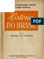 história do brasil 3° ano colegial- alfredo d'escragnolle taunay