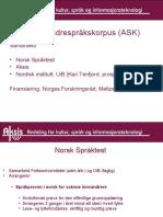 Norsk andrespråkskorpus (ASK)