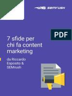7 Sfide per Chi fa Content Marketing