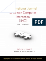 International Journal of Human Computer Interaction (IJHCI) V1 I2