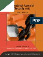 International Journal of Security  V4 I4