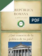 LA REPÚBLICA ROMANAcas