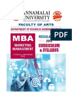 MBA Marketing Management