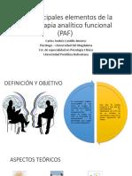 Los principales elementos de la psicoterapia analítico funcional