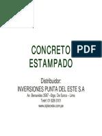 CONCRETO ESTAMPADO - ESPECIFICACIONES
