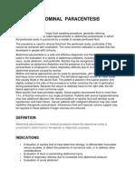 Abdominal Paracentesis