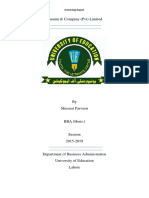 Musarat Parveen Shmim & Company Internship Report