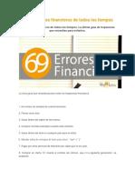 Los 69 Errores Financieros de Todos Los Tiempos