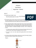Physics 10 ICSE Solution 9