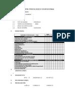 Formato de Informe Psicologico Ocupacional - Propuesto