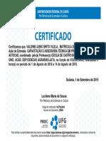 certificado de extensão