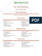 Plan Estudio Economia