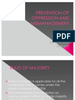 Prevention of Oppression And
