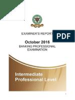 CIBN Examiners Report October 2016