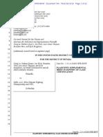 Supplemental Brief - Plaintiffs