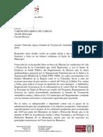 Carta Alcalde de Cucaita