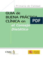 Guia de Buena Practica Clinica en El Consejo Dietetico