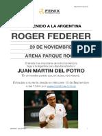 Roger Federer en Argentina