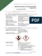 Msds Federal Maxxum Le Synthetic Blend 15w 40 Cj 4