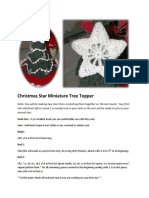 Christmas Star Miniature Tree Topper