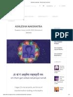 Ashlesha Nakshatra - Discovering Youniverse