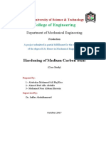 Hardening of Medium Carbon Steel